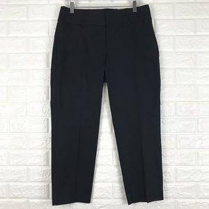 Ann Taylor Black Cropped Pants Curvy Fit 8